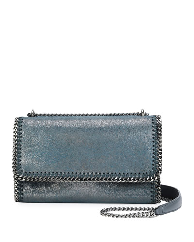 Falabella Metallic Chain-Trim Shoulder Bag