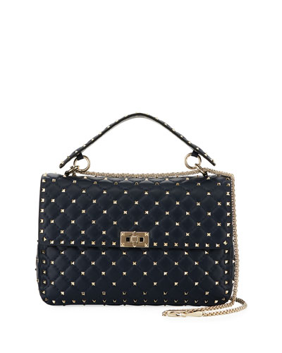 Rockstud Spike Large Napa Top-Handle Bag