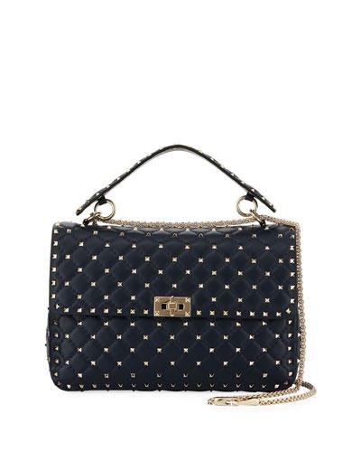 Rockstud Spike Large Napa Top-Handle Bag