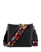 Rockstud Rolling Noir Guitar Small Hobo Bag
