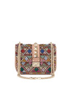 Lock Beaded Small Shoulder Bag