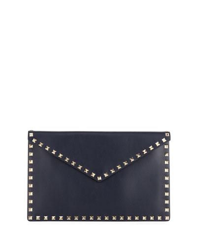 Rockstud Large Envelope Flat Pouch Bag