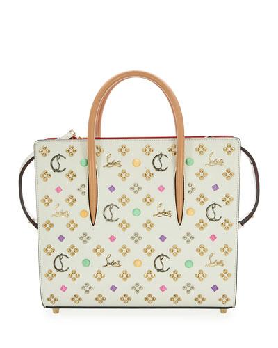 Paloma EmpireSpikes LoubinTheSky Medium Calf Tote Bag