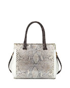 Nancy Gonzalez Medium Python and Crocodile Tote Bag,