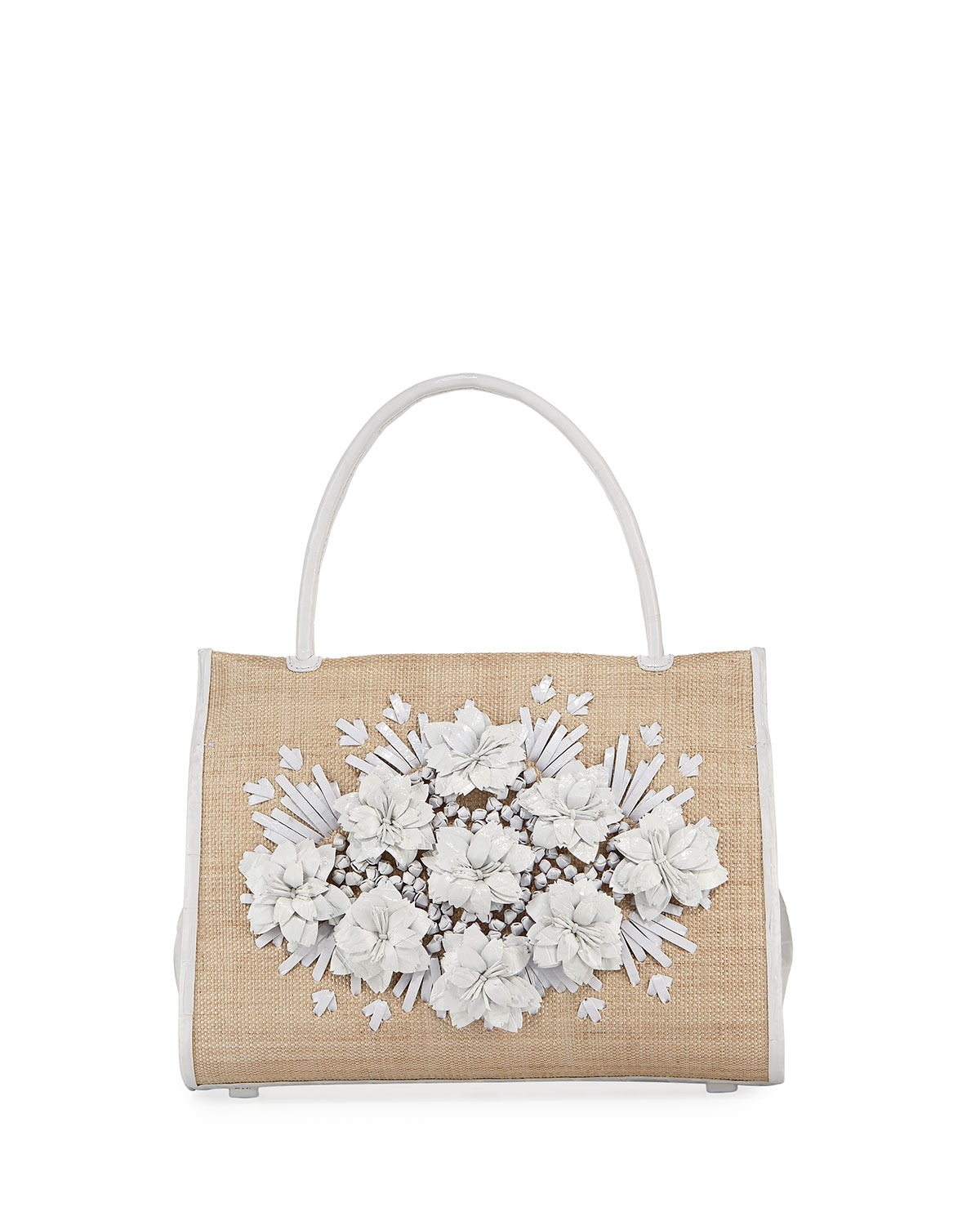 Wallis Floral Crocodile & Straw Tote Bag