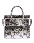 Horizon Mini Laminated Python Satchel Bag