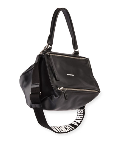 Pandora Small Logo-Strap Satchel Bag