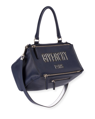 Pandora Medium Logo Bubble Satchel Bag
