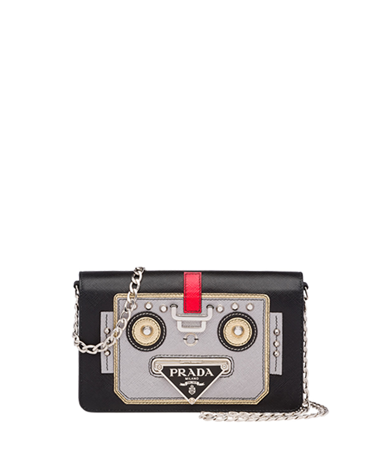 Saffiano Robot Small Shoulder Bag