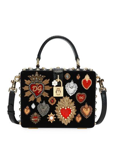 Dolce Box Velvet/Ayers Shoulder Bag