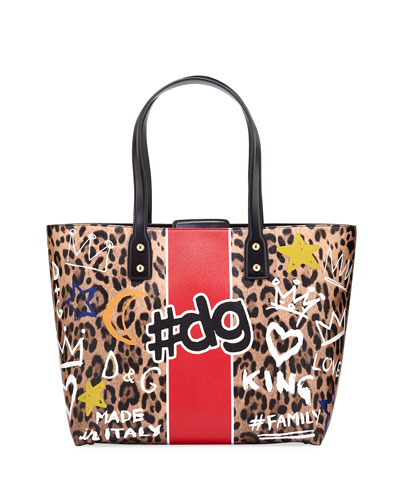DG Graffiti Medium Stampato Tote Bag
