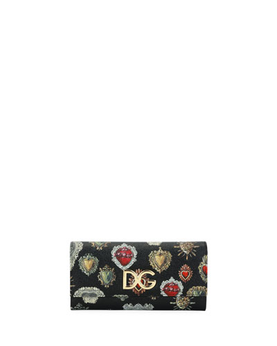 Sacred Hearts St. Dauphine Continental Wallet, Black