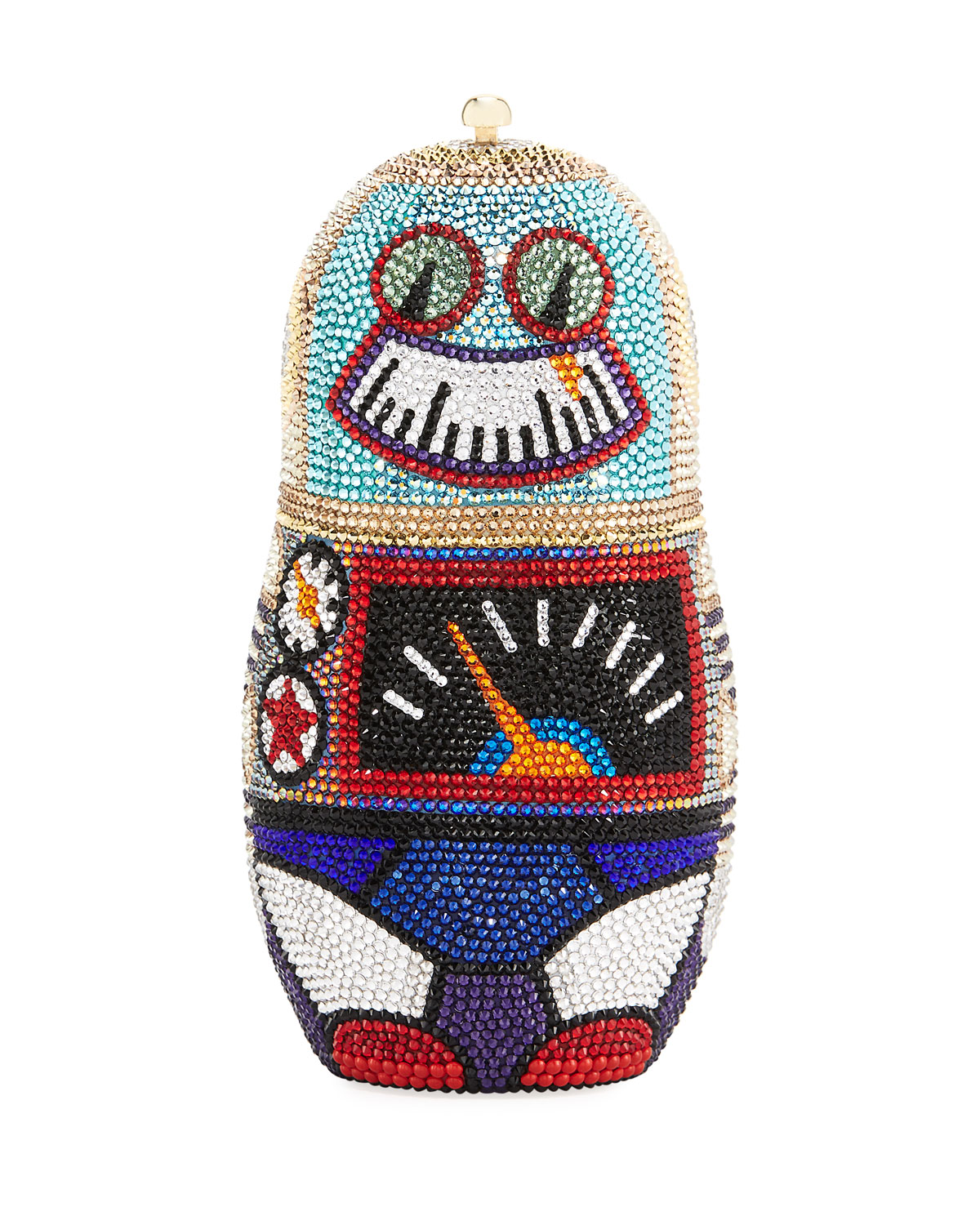 Robot Russian Doll Clutch Bag