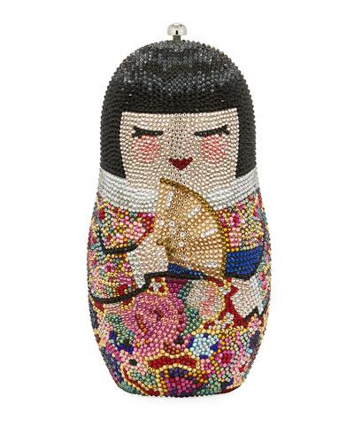 Niko Russian Doll Crystal Minaudiere