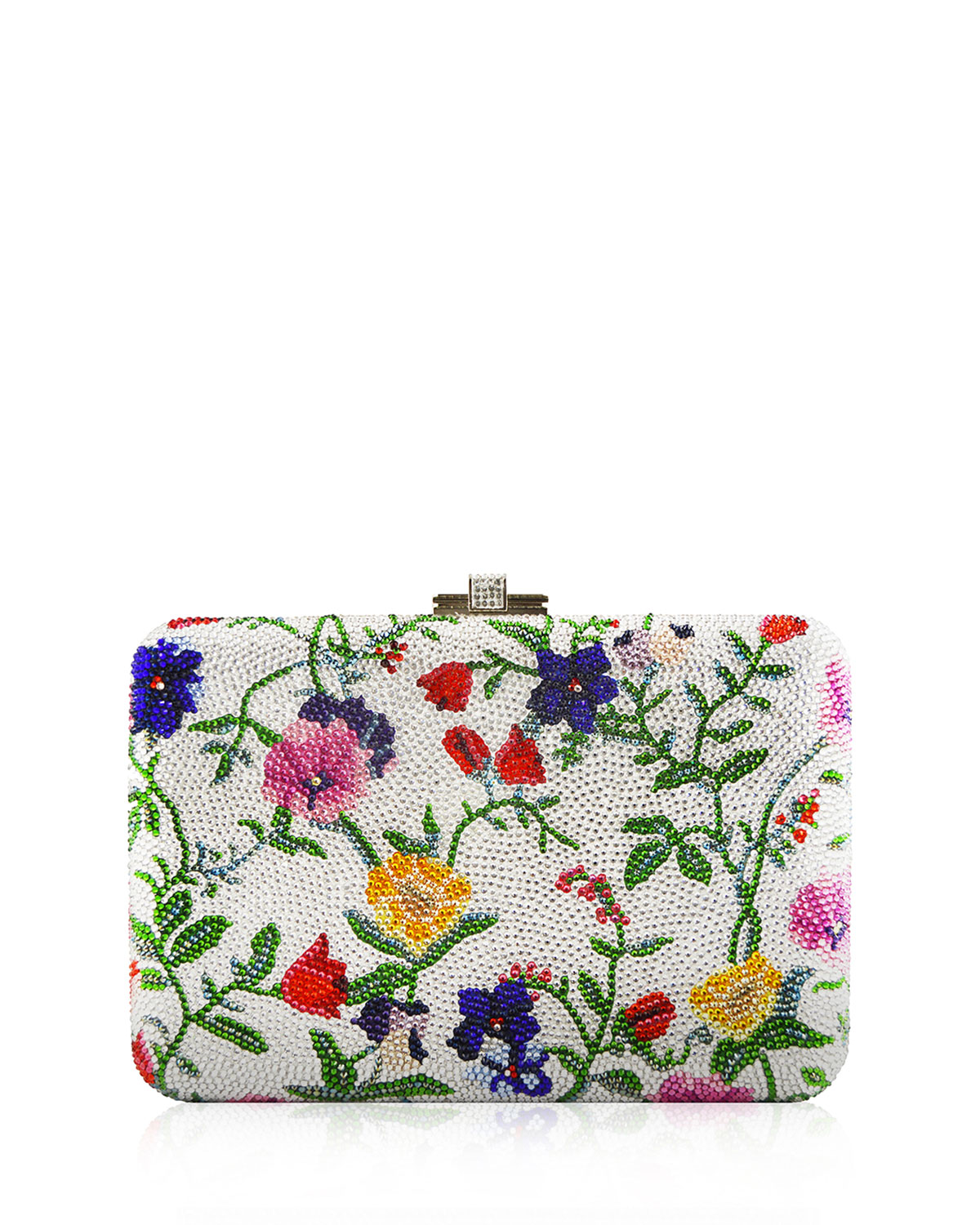 Morning Glory Slim Slide Clutch Bag