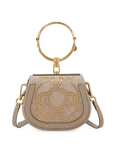 Nile Small Studded Bracelet Bag