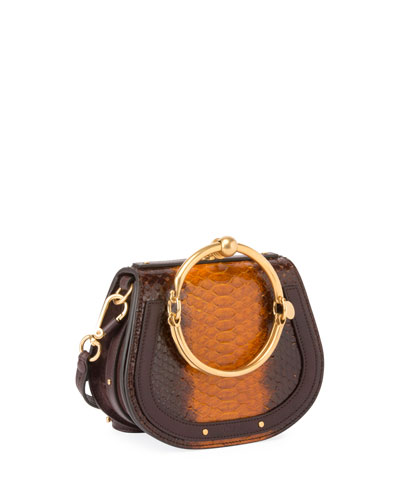 Nile Small Python Bracelet Bag