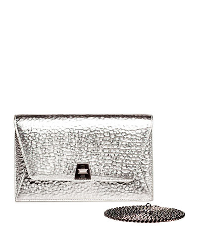 Anouk Hammered Leather Envelope Clutch Bag