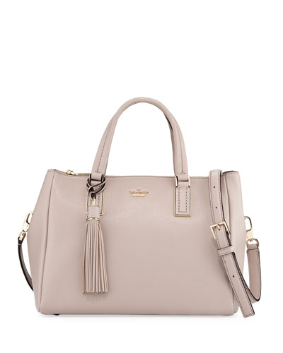 alena pebbled leather top handle bag