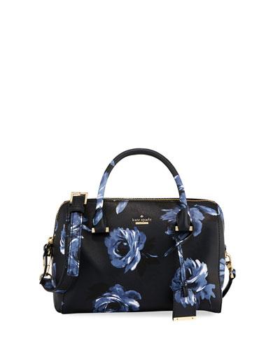 lane large rose-print satchel bag