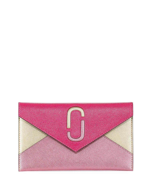 Liaise Metallic Envelope Clutch Bag