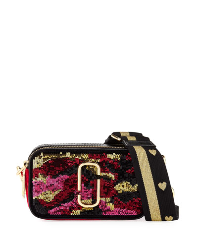 Snapshot Camouflage Sequin Camera Bag