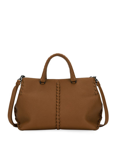 Small Cervo Leather Tote Bag