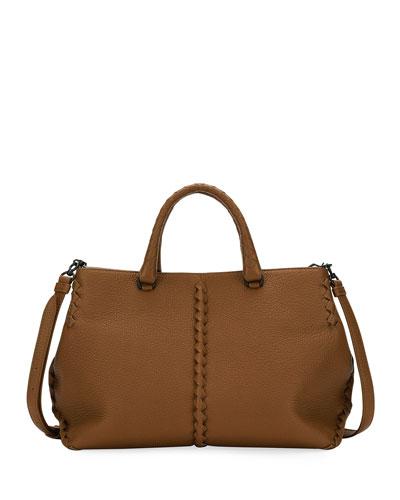 Small Cervo Leather Tote Bag