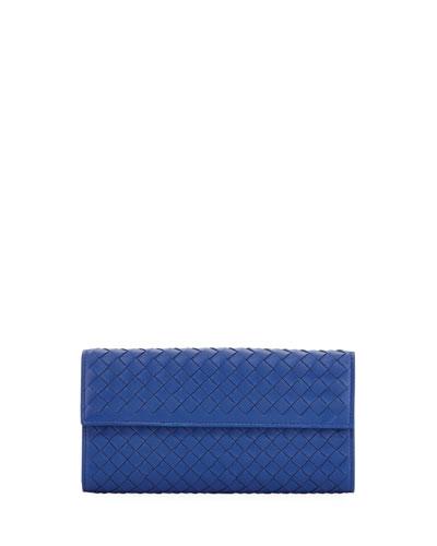 Large Intrecciato Continental Zip Wallet