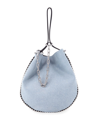 Roxy Bleached Denim Hobo Bag