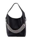 Genesis Box Chain Extra Large Hobo Bag, Black