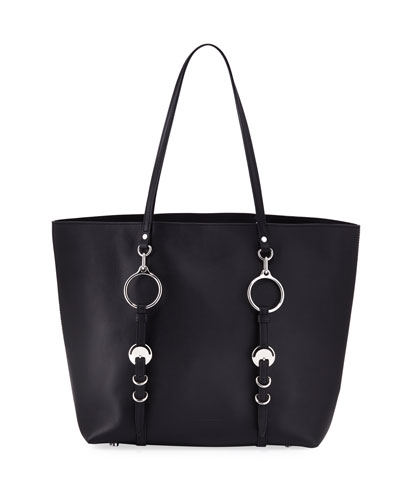 Ace Napa Leather Smooth Extra Large Tote Bag, Black