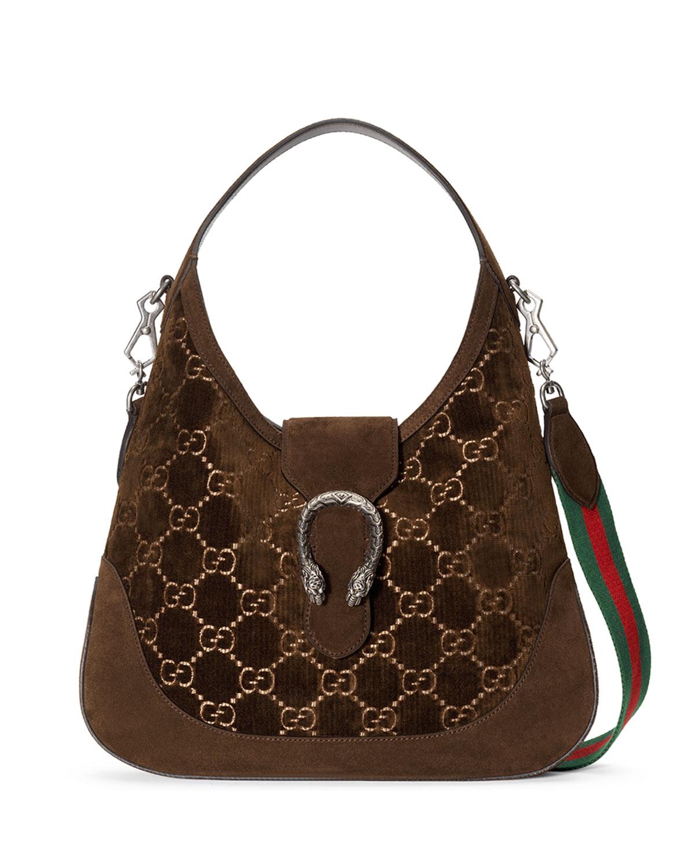 Dionysus Medium GG Velvet Hobo Bag