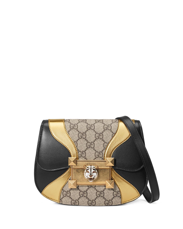 Osiride GG Supreme Shoulder Bag with Wave Detail
