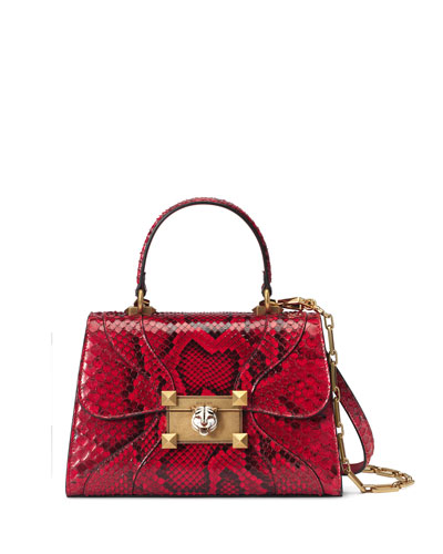 Iside Small Python Top-Handle Bag