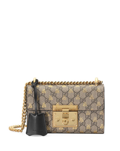 Padlock Small GG Supreme Bees Shoulder Bag