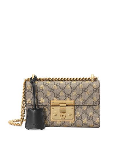 9acf944dd84 Quick Look. Gucci · Padlock Small GG Supreme Bees Shoulder Bag
