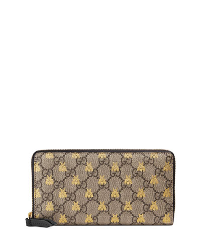 3a3ce5482654 Quick Look. Gucci · Linea A GG Supreme Canvas Zip-Around Wallet