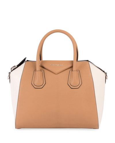 Antigona Small Bicolor Satchel Bag