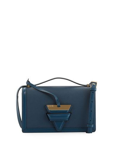 Barcelona Small Grain Leather Crossbody Bag