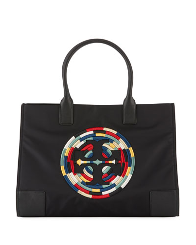 Ella Rope Nylon Tote Bag, Black