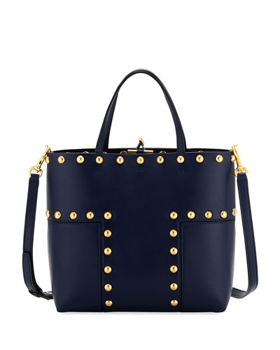 Block T Stud Mini Tote Bag