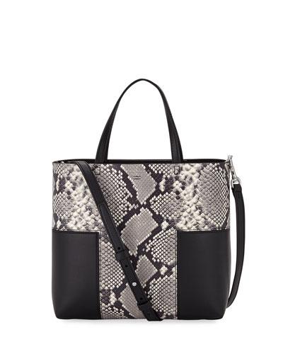 Block-T Mini Embossed Tote Bag