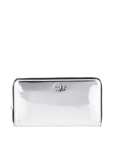 Robinson Mirror Metallic Zip Wallet