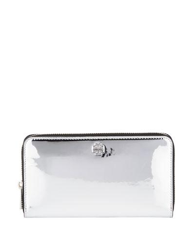 Robinson Mirror Metallic Zip Wallet