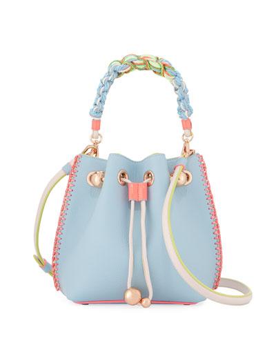Romy Mini Leather Bucket Bag