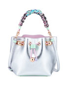 Romy Butterfly Metallic Bucket Bag