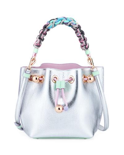 Romy Butterfly Metallic Bucket Bag