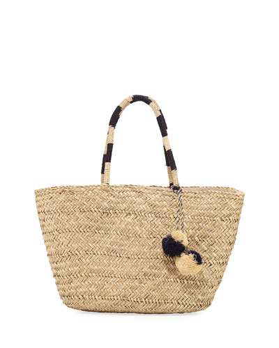 Carried Away Beach Basket with Pompom