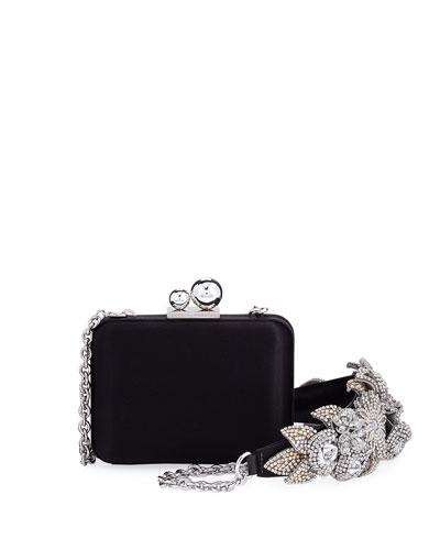 Vivi Lilico Satin Box Clutch Bag